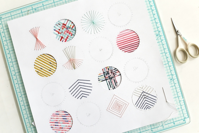 Scrapbook Page with a Circle Grid Design by Eva Pizarro for We R Memory Keepers