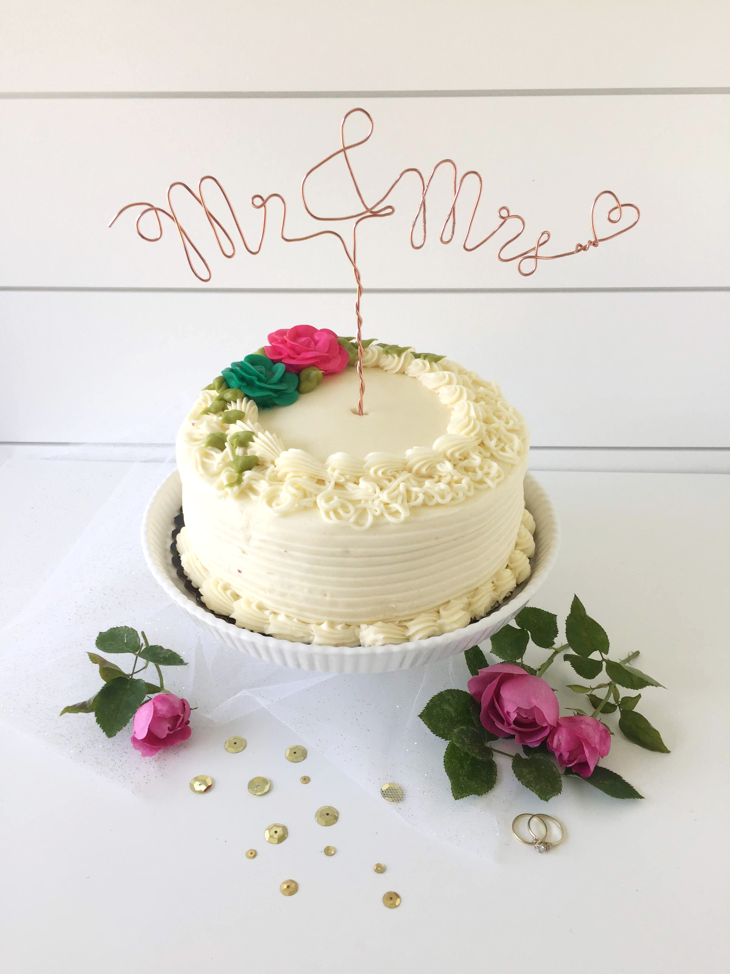 Wire Wedding Cake Topper   We R Memory Keepers Blog
