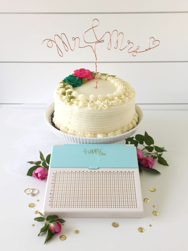 Wire Wedding Cake Topper by Aly Dosdall for We R Memory Keepers featuring the Happy Jig wire design tool