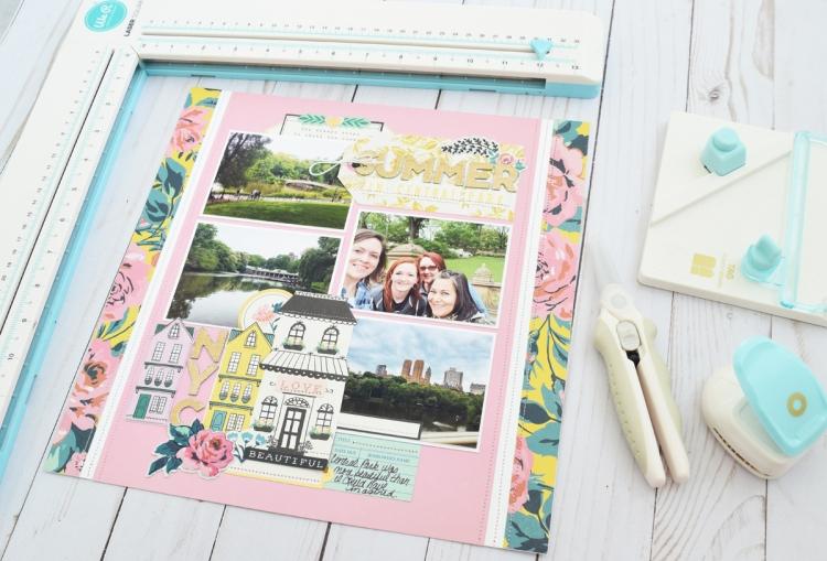 Summer Scrapbook Page by Becki Adams for We R Memory Keepers