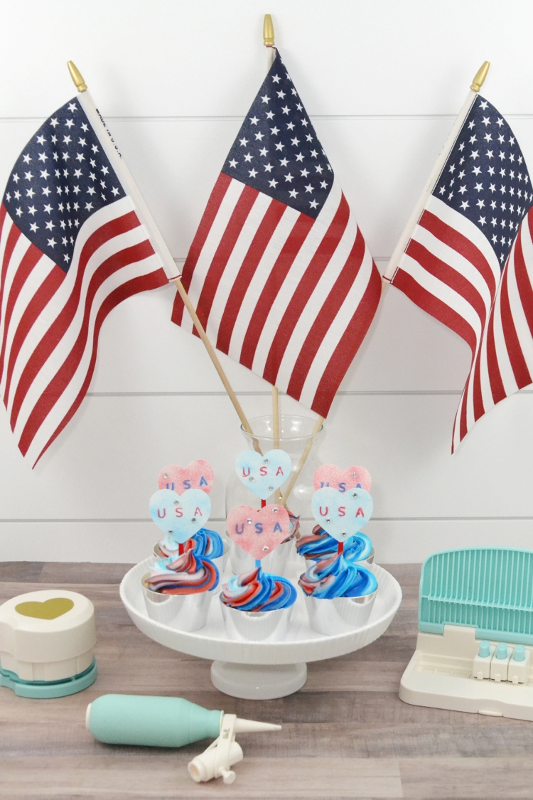 Patriotic Cupcake Toppers by Aly Dosdall for We R Memory Keepers