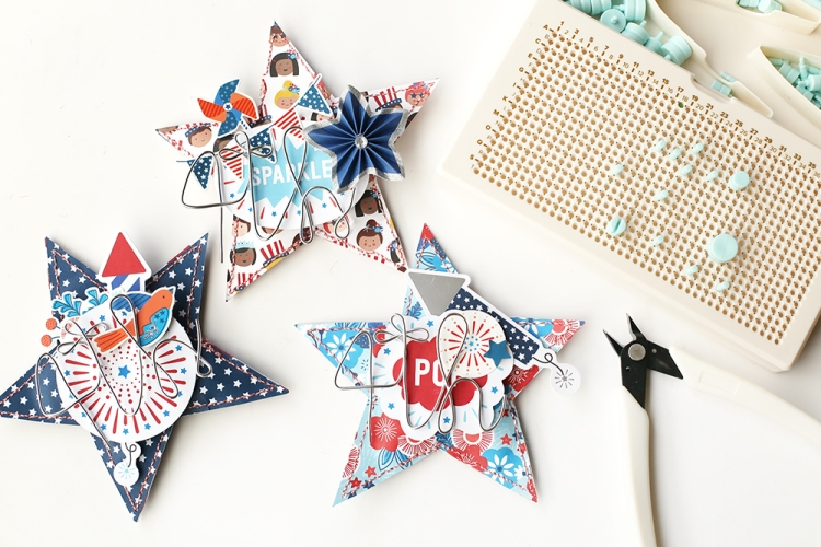 Patriotic Party Favors by Eva Pizarro for We R Memory Keepe