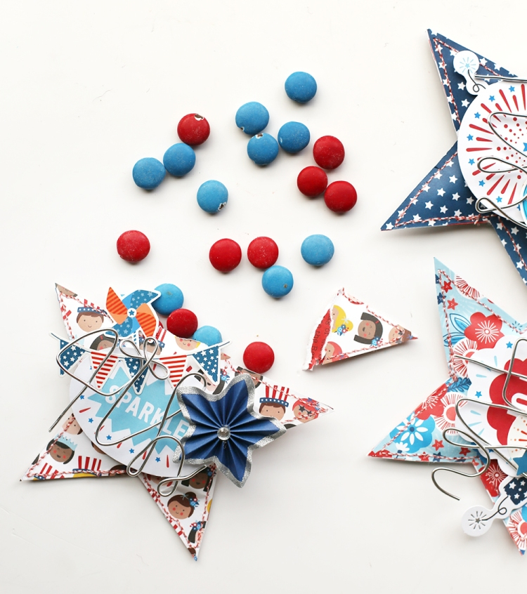 Patriotic Party Favors by Eva Pizarro for We R Memory Keepers