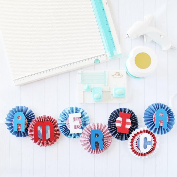 Patriotic Garland by Laura Silva for We R Memory Keepers