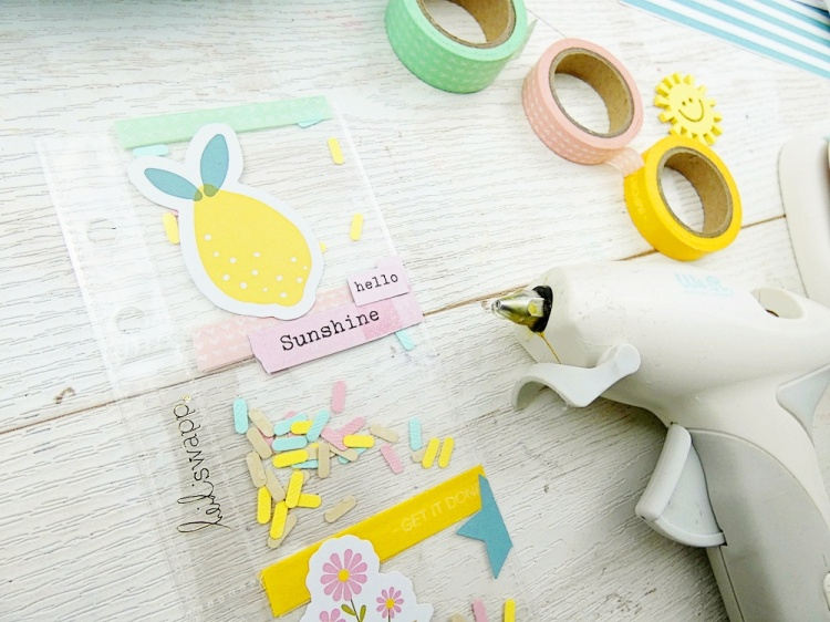 How to Create a Summer Planner Spread by Soraya Maes for We R Memory Keepers featuring the USB Mini Glue Gun