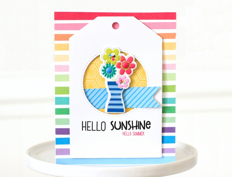 Summer Card with the Precision Press Advanced by Nancy Damiano for We R Memory Keepers