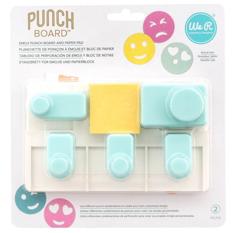Emoji Punch Board by We R Memory Keepers
