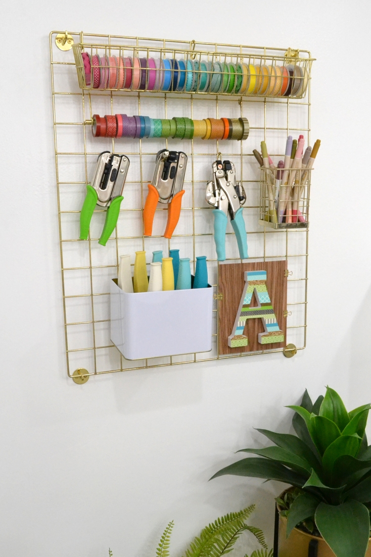 Crate Paper Grid Storage featured in Aly Dosdall's craft room