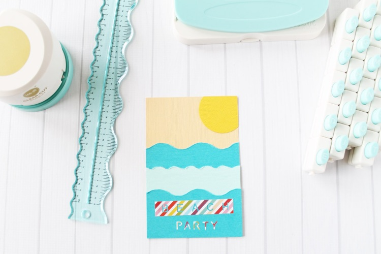Beach Party Invitations by Laura Silva for We R Memory Keepers