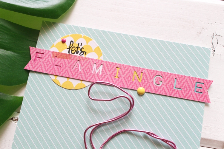 Happy Jig Flamingo Card by Kimberly Crawford for We R Memory Keepers