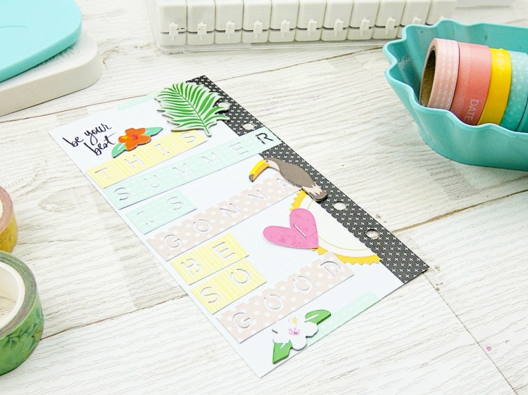 Planner Spread by Soraya Maes featuring the Word Punch Board by We R Memory Keepers