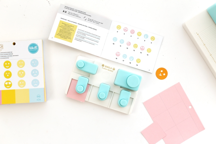 Emoji Punch Board and Perforated Paper Pad by We R Memory Keepers