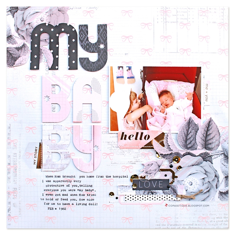 Scrapbook Page by Chantalle McDaniel featuring the Typecast Typewriter by We R Memory Keepers