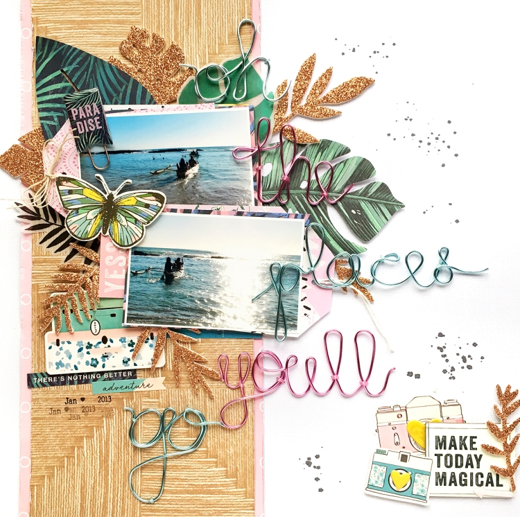 Happy Jig Scrapbook Page by Enza Gudor for We R Memory Keepers