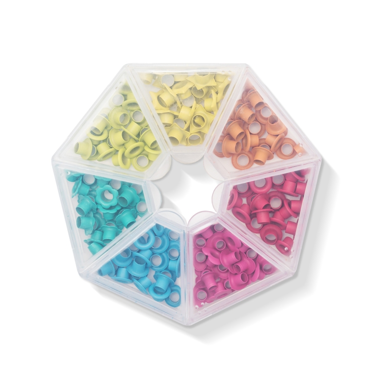 Bright Eyelets with Storage Case by We R Memory Keepers