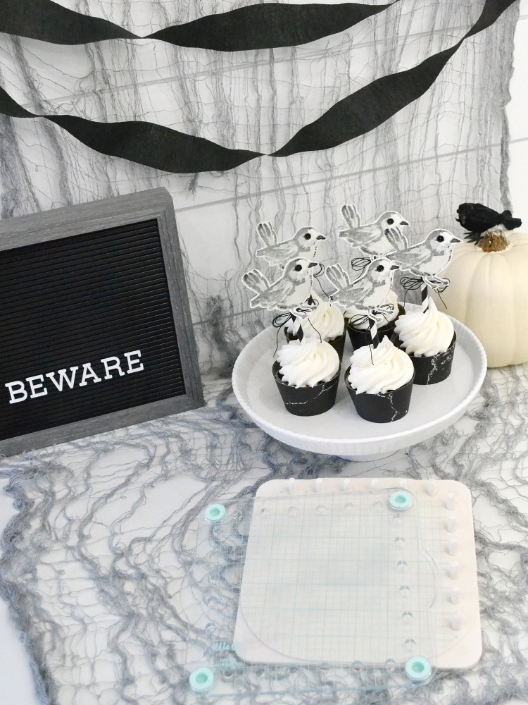 Halloween Cupcake Toppers featuring the Precision Press Advanced by Aly Dosdall for We R Memory Keepers