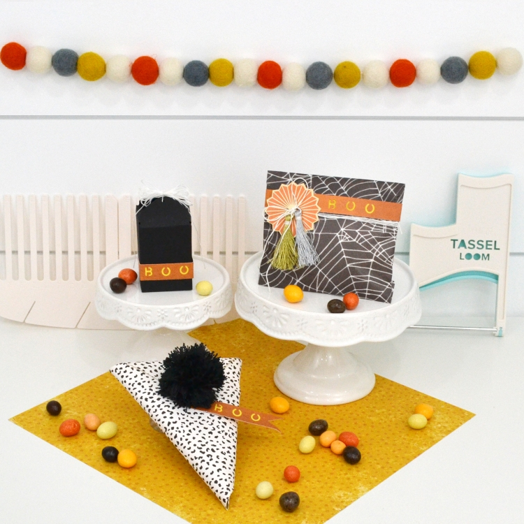 Halloween Gift Wrap Ideas by Aly Dosdall for We R Memory Keepers