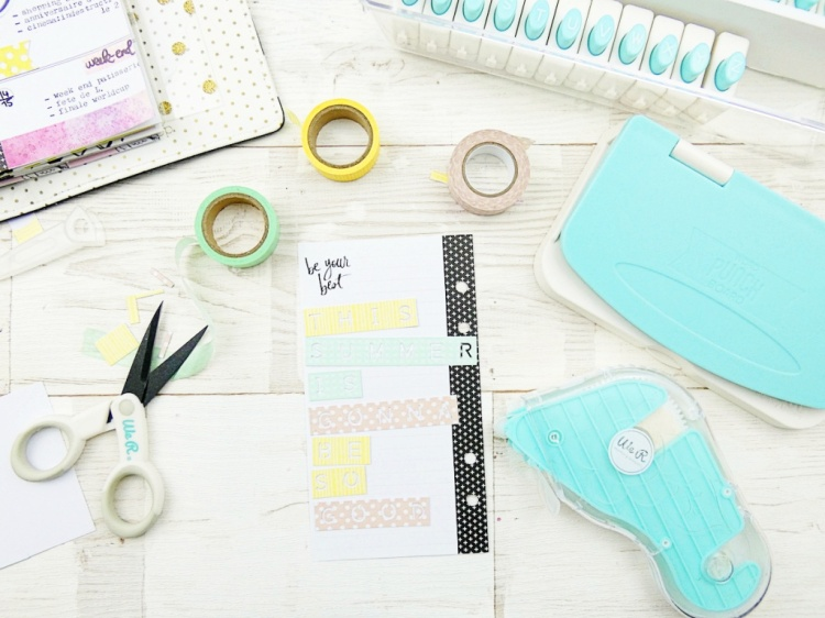 DIY Planner Washi Tape Accents by Soraya Maes for We R Memory Keepers