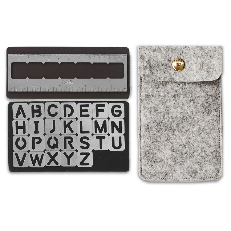Magnetic Alphabet Stencils by We R Memory Keepers