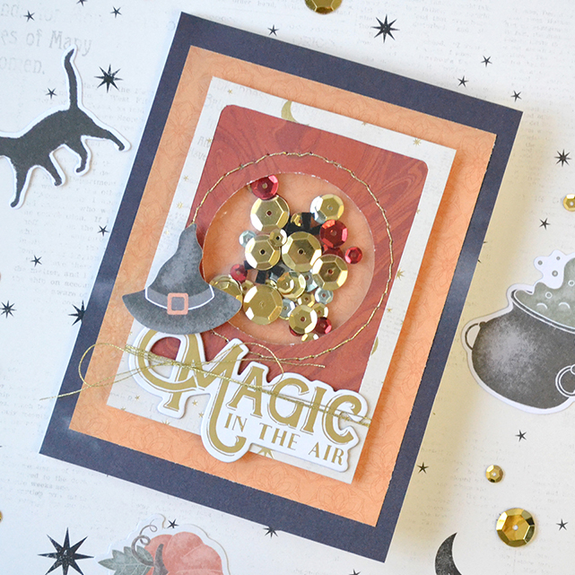 Handmade Halloween Card featuring the Clear Cut Circle Punch by Aly Dosdall for We R Memory Keepers