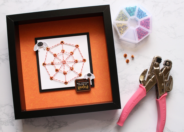 Framed Halloween Decor with the Crop-A-Dile by Kimberly Crawford for We R Memory Keepers