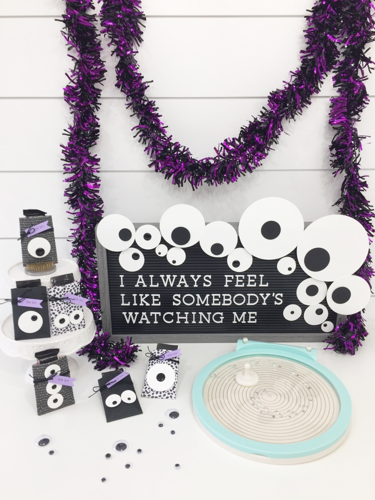 Googly Eye Party with the Circle Spin and Trim by Aly Dosdall for We R Memory Keepers