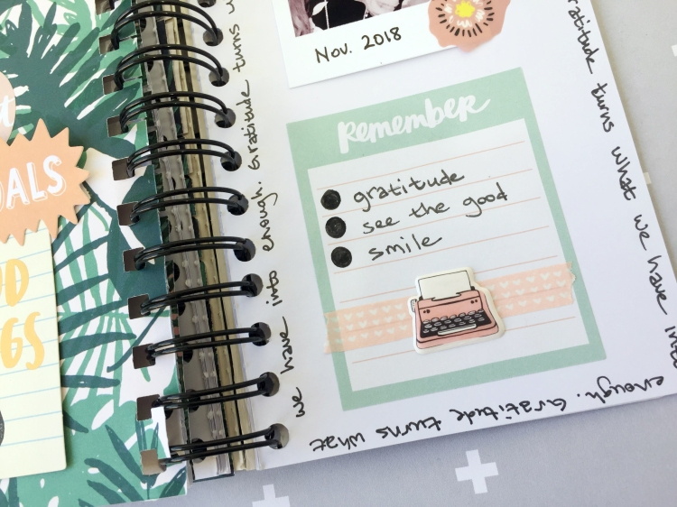 Gratitude Journal by Aly Dosdall for We R Memory Keepers 9