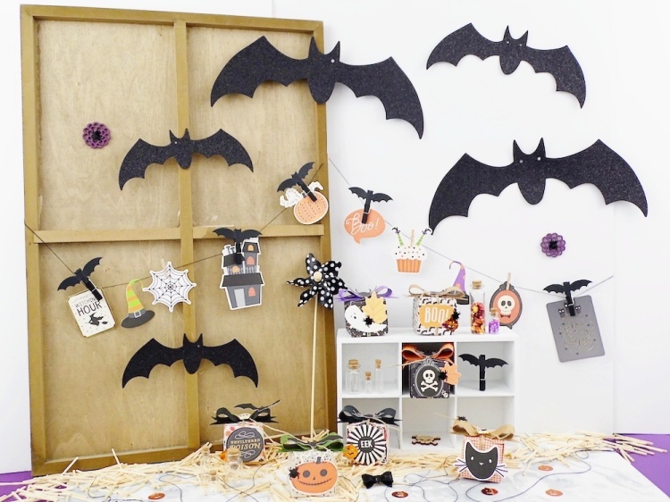 Halloween Paper Boxes and Bows featuring the We R Memory Keepers DIY Party Board