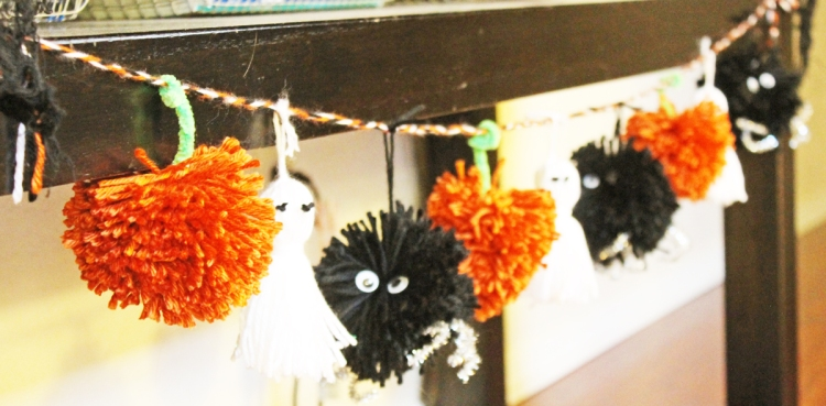 Pom Pom and Tassel Halloween Garland by Laura Silva for We R Memory Keepers