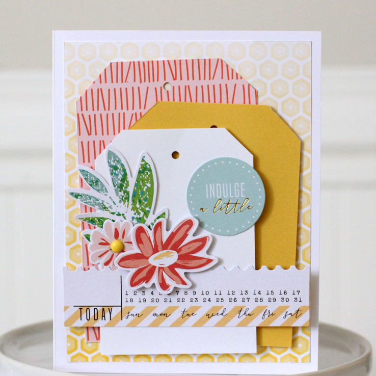 Handmade Card featuring the We R Memory Keepers Tag Punch Board