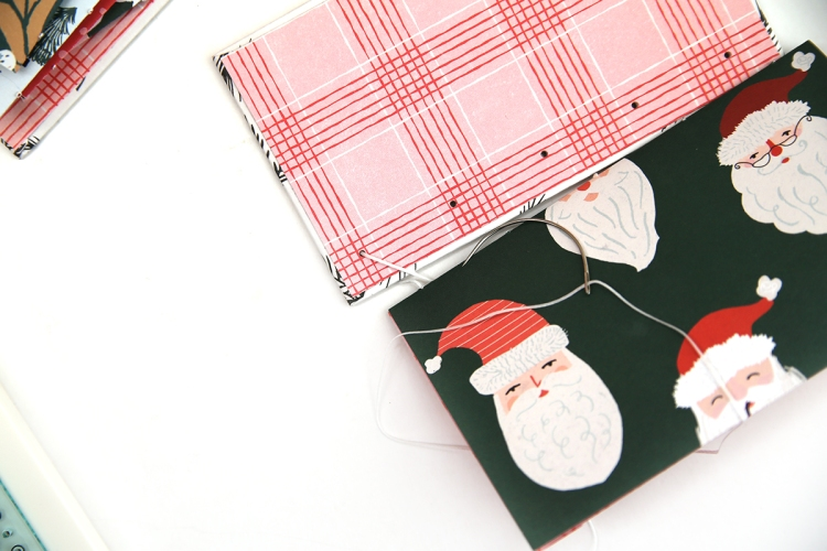 Christmas Coptic Book by Eva Pizarro for We R Memory Keepers featuring the Book Binding Guide