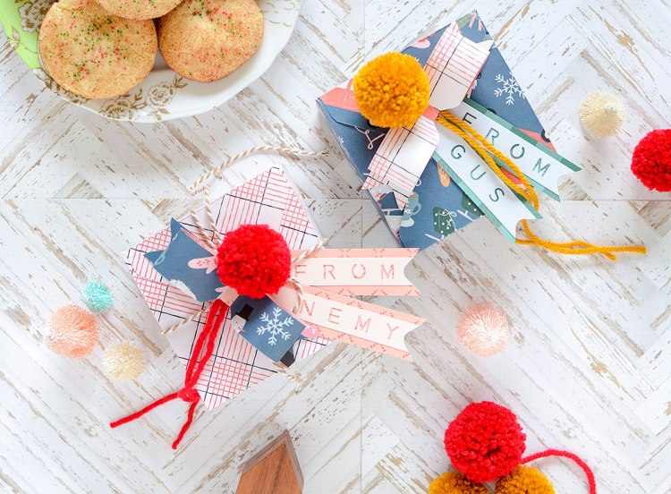 Holiday Cookie Boxes by Rebecca Luminarias for We R Memory Keepers