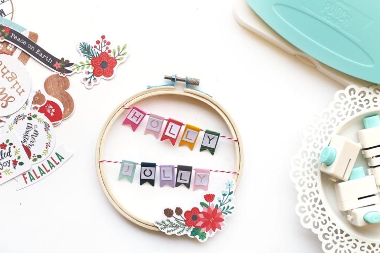 DIY Christmas Hoops by Eva Pizarro for We R Memory Keepers