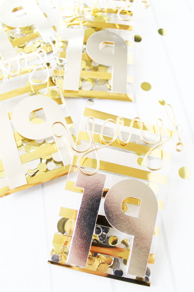 New Year's Eve Confetti Favors by Laura Silva for We R Memory Keepers