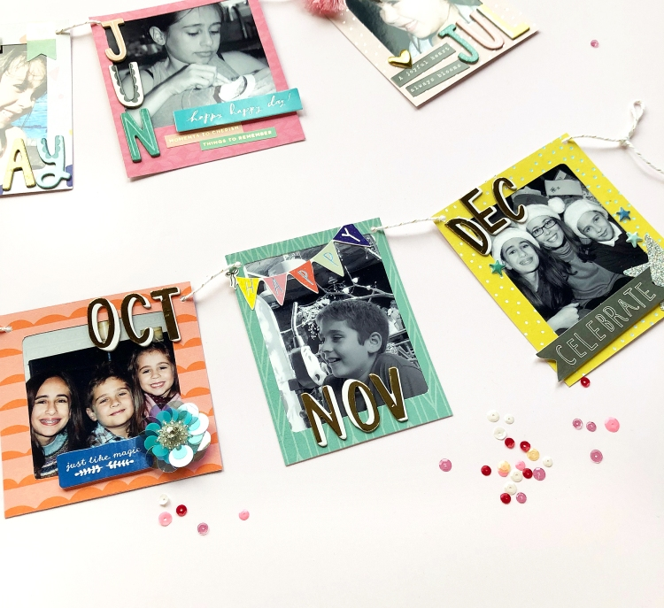 2018 Photo Garland featuring the Frame Punch Board by Enza Gudor for We R Memory Keepers