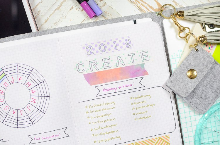 2019 Goal Tracker featuring the Journal Studio by Rebecca Luminarias for We R Memory Keepers
