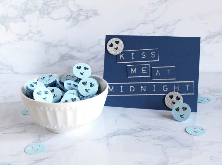 New Years Eve Party Favors with the Emoji Punch Board by Kimberly Crawford for We R Memory Keepers