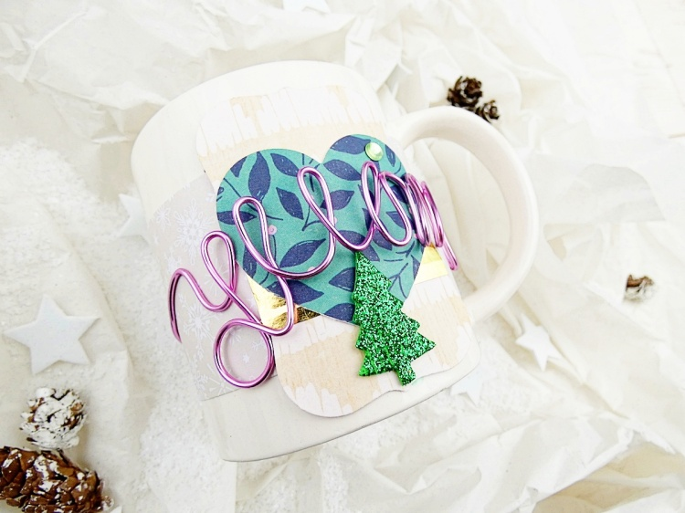 Holiday Gift Mug by Soraya Maes for We R Memory Keepers