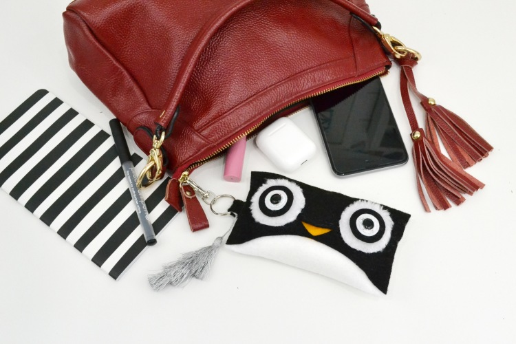 Kate Spade Inspired Felt Penguin Pouch by Aly Dosdall for We R Memory Keepers