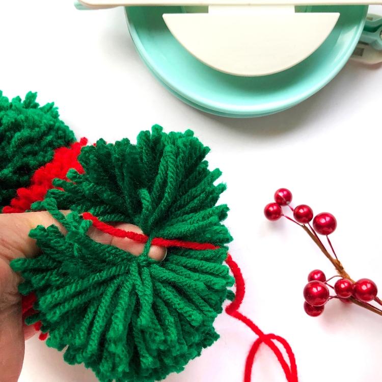 DIY Pom Pom Scarf with the Jumbo Pom Pom Maker by Enza Gudor for We R Memory Keepers