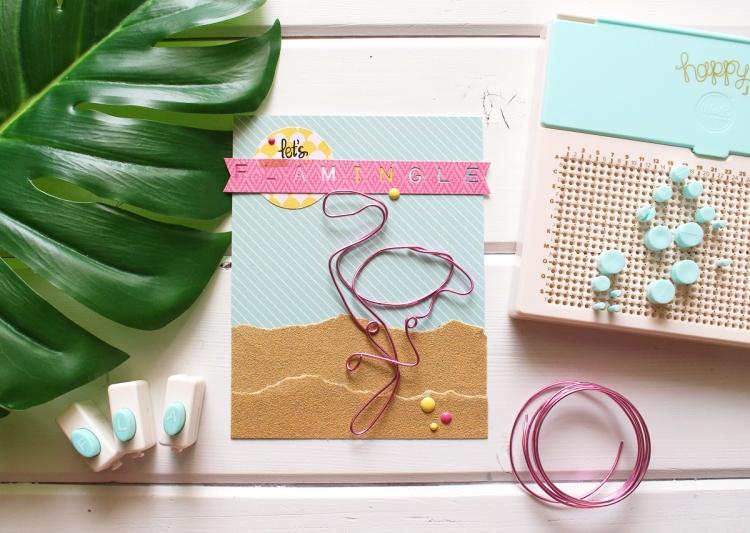 happy jig lets flamingle card Kimberly Crawford 1