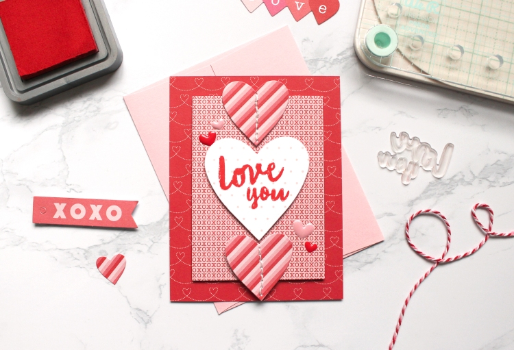 Valentine's Day Card with the We R Memory Keepers Precision Press Advanced by Kimberly Crawford