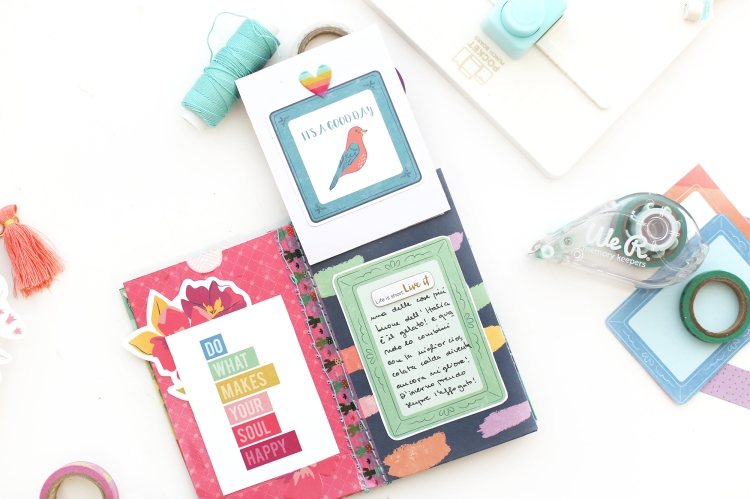 Washi Tape Mini Album by Eva Pizarro for We R Memory Keepers featuring the Washi Tape Runner