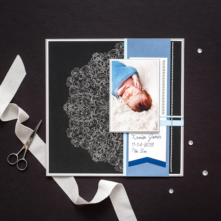 Foil Quill Scrapbook Page by We R Memory Keepers