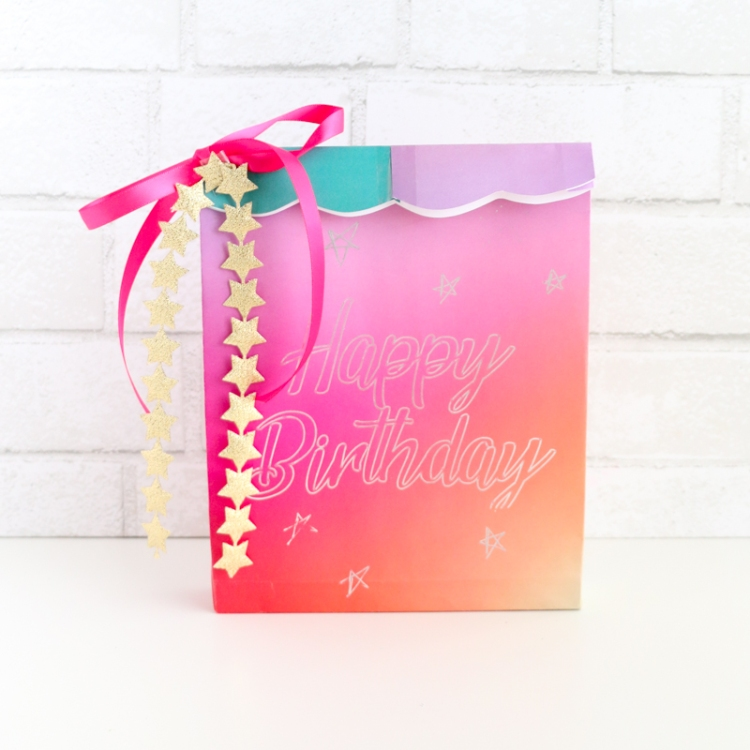 DIY Foil Quill Gift Bag by Kailo Chic