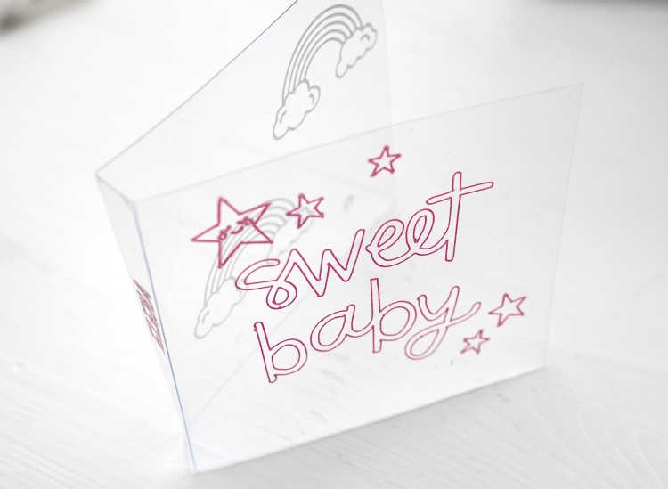 Foil Quill Acetate Baby Album by Steffi Ried for We R Memory Keepers