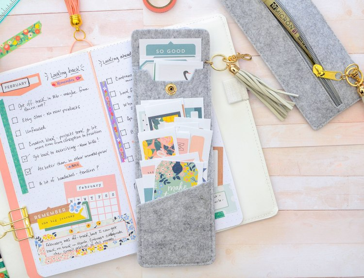 We R Memory Keepers Journal Studio Felt Snap Pocket