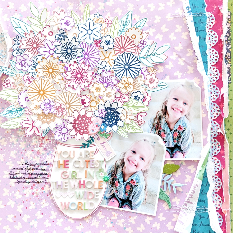 Foil Quill Scrapbook Page by Paige Evans for Pink Paislee