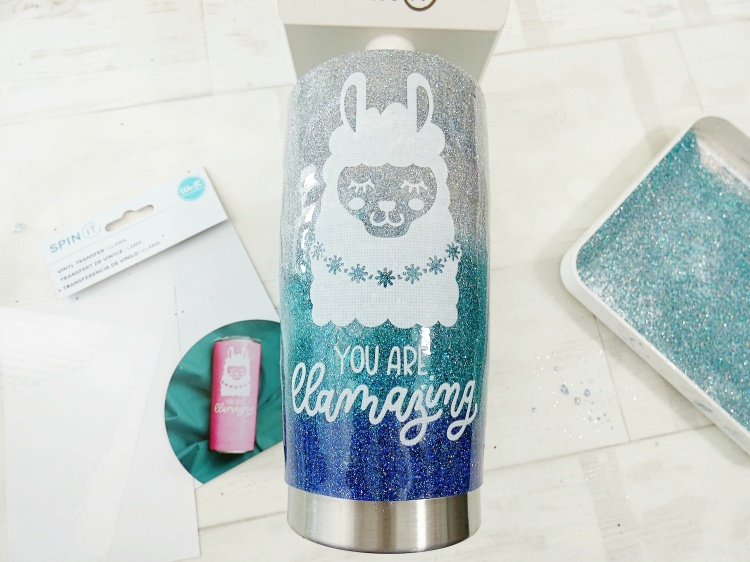 Ombre Glitter Tumbler with the Spin It by Soraya Maes for We R Memory Keepers