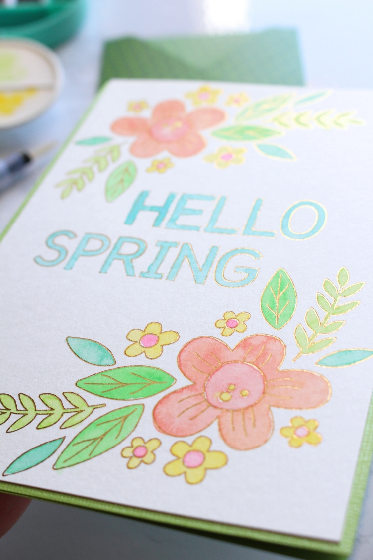 Foil Quill Spring Card by Kimberly Crawford for We R Memory Keepers